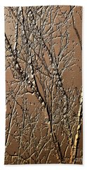 Sculpted Tree Branches Bath Towel
