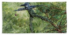 Hand Towel featuring the digital art Sculpture At The Living Desert Palm Desert Ca by Sherri Of Palm Springs
