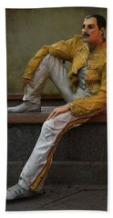 Sculptures Of Sankt Petersburg - Freddie Mercury Bath Towel
