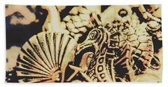 Sea Abstract From The Nautics  Hand Towel