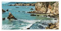 Sea And Cliffs Bath Towel