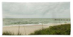 Sea Birds Awaiting The Rain Hand Towel by Christopher L Thomley