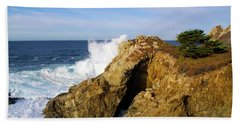 Hand Towel featuring the photograph Sea Cave Big Sur by Floyd Snyder