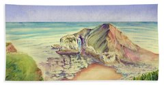 Sea Cliff Hand Towel by Elizabeth Lock