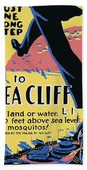 Sea Cliff Long Island Poster 1939 Bath Towel
