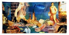Bath Towel featuring the painting Sea Garden by Gail Kirtz