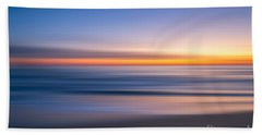 Sea Girt New Jersey Abstract Seascape Sunrise Bath Towel