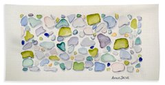 Sea Glass Puzzle - Follow Your Heart Bath Towel