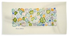 Sea Glass Puzzle - Found Luck Hand Towel