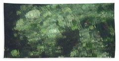 Sea Green Abstract Bath Towel