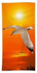 Bath Towel featuring the photograph Sea Gull by Athala Carole Bruckner