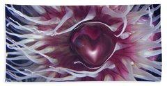 Bath Towel featuring the digital art Sea Heart by Linda Sannuti