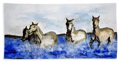 Sea Horses Hand Towel