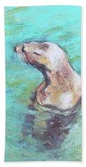 Sea Lion Bath Towel by Yoshiko Mishina