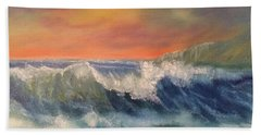Bath Towel featuring the painting Sea Mist by Denise Tomasura