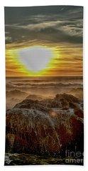 Sea Mist Sunset Bath Towel