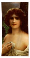 Sea Nymph Hand Towel by Emile Vernon