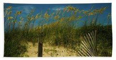 Sea Oats And Sand Fence Hand Towel by John Harding
