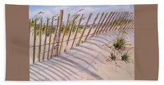 Sea Oats And Shadows Hand Towel