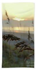 Sea Oats At Sunrise Bath Towel