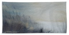 Hand Towel featuring the painting Sea Oats by Judith Rhue
