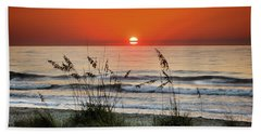 Sea Oats Sunrise Hand Towel by Phil Mancuso