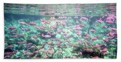 Sea Of Fish 2 Hand Towel by Karen Nicholson