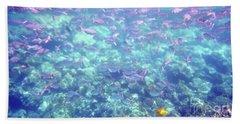 Sea Of Fish Bath Towel by Karen Nicholson