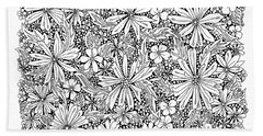 Sea Of Flowers And Seeds At Night Horizontal Hand Towel by Tamara Kulish