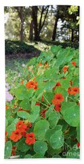Sea Of Nasturtiums Hand Towel