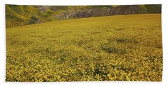 Bath Towel featuring the photograph Sea Of Yellow Up In The Temblor Range At Carrizo Plain National Monument by Jetson Nguyen