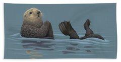 Sea Otter Hand Towel