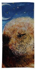 Sea Otter Pup Hand Towel by Michael Creese