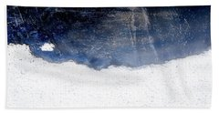 Sea, Satellite - Coast Line On Blue Ocean Illusion Hand Towel