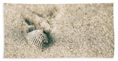 Hand Towel featuring the photograph Sea Shell On Beach  by John McGraw