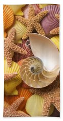 Sea Shells And Starfish Hand Towel