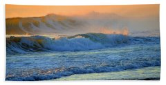 Sea Smoke Sunrise Hand Towel by Dianne Cowen