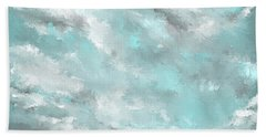 Sea Spirit - Lighter Version - Teal And Gray Art  Hand Towel