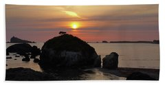 Sea Stack Sunset Bath Towel