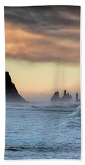 Bath Towel featuring the photograph Sea Stacks by Allen Biedrzycki