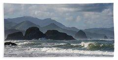 Sea Stacks And Surf Hand Towel