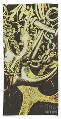 Sea Tides And Maritime Anchors Hand Towel