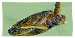 Green Sea Turtle Hand Towels