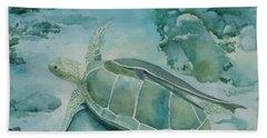 Sea Turtle And Friend Bath Towel