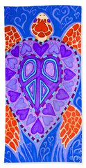 Sea Turtle Hearts 2 Bath Towel