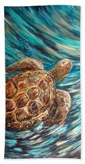 Sea Turtle Wave Guam Hand Towel