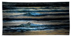 Sea Waves After Sunset Hand Towel