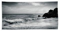 Sea Waves On The Beach Hand Towel