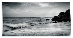 Sea Waves On The Beach Bath Towel