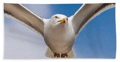 Seabird Closeup Hand Towel